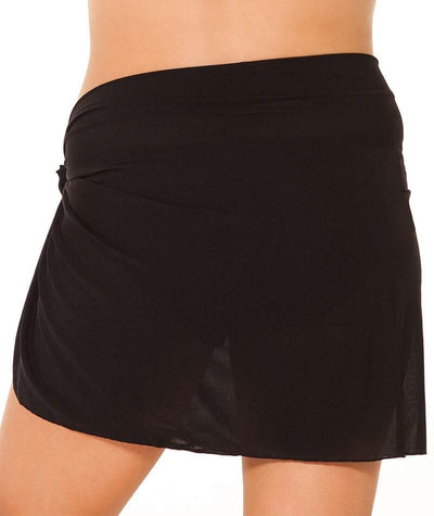 Capriosca Mesh Tie Skirt Short - Black Swim