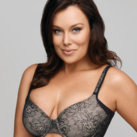 Playtex One Smooth You Side Smoothing Underwire Bra - Black / Soft Taupe Lace
