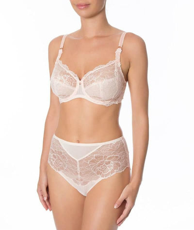 Florale Peony Bra - Orange Highlight - Model