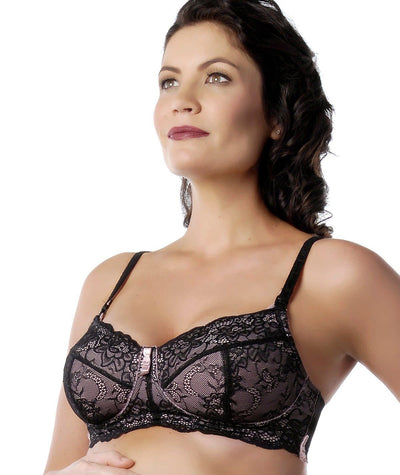 hotmilk Chic Pink Maternity Bra - Pink/Black