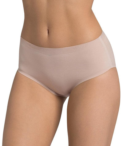 Triumph Sloggi Invisible Supreme Cotton Midi Brief - New Beige Knickers 10
