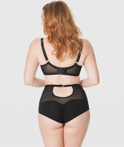 Scantilly Unleash High Waist Brief - Black - Model - Back