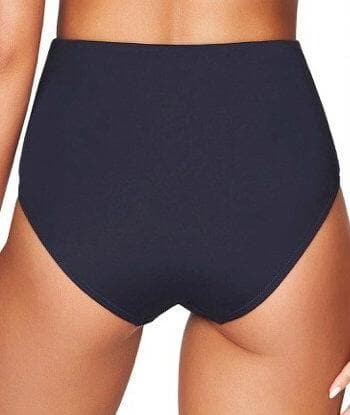 Sea Level Plains Gathered Side High Waist Brief - Night Sky Navy Swim