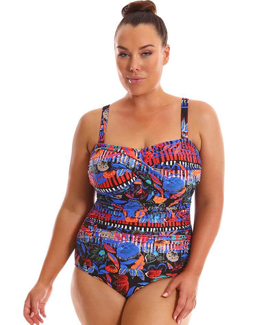 Capriosca Twist Front Bandeau One Piece - Boho Folk Swim 12