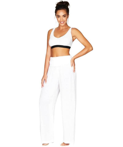 Sea Level Plains Folded Band Beach Pant - White - Model - Side