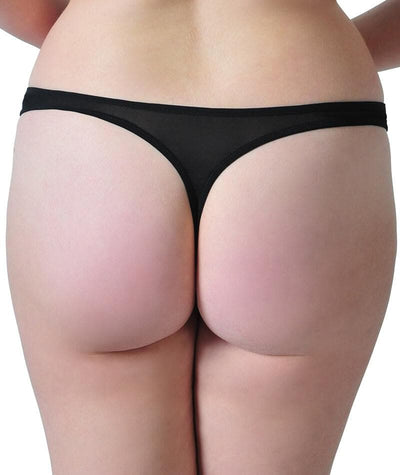 Scantilly Peek A Boo Thong - Black Knickers