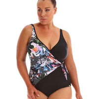 Capriosca Crossover One Piece - Graphic Floral