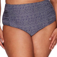 Artesands Rouched Side High Waist Brief - Zig Zag