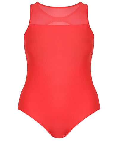 Capriosca Chlorine Resistant Mesh Tank One Piece Swimsuit - Luxe Sport Red