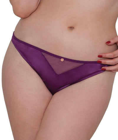 Scantilly Peek A Boo Thong - Violet Knickers L