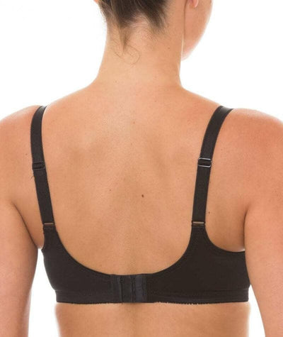 Triumph Embroidered Minimizer Bra - Black - Back