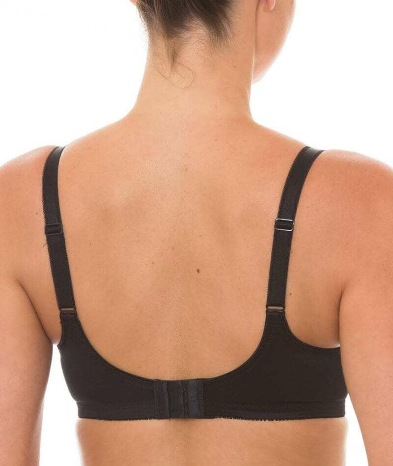 Triumph Embroidered Minimizer Bra - Black - Front