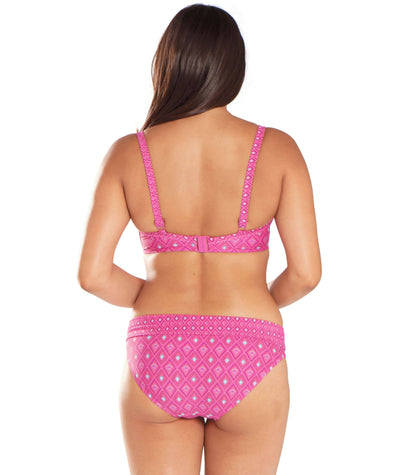 Curvy Kate Revive Padded Balcony Bikini - Pink Print - Model - Back