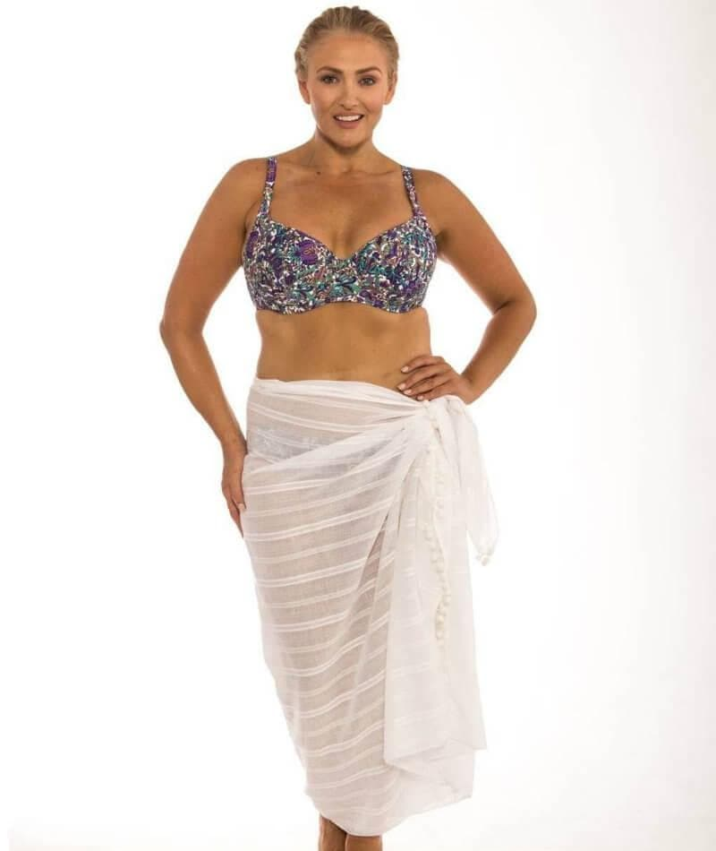 Capriosca Beach Cover Up Sarong - White 03cf6c5ed