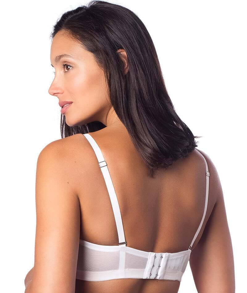 53366ee2e29d9 Hotmilk Forever Yours Flexi-wire Maternity   Nursing Bra - White - Curvy