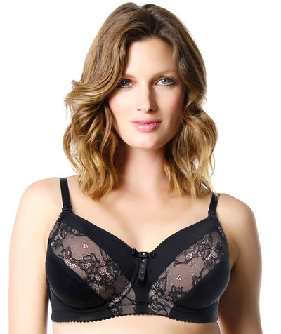 Hotmilk Lure Flexiwire Nursing Bra - Black Bras 10D