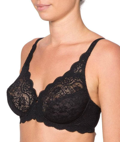 Triumph Amourette Lacy Bra - Black - Side