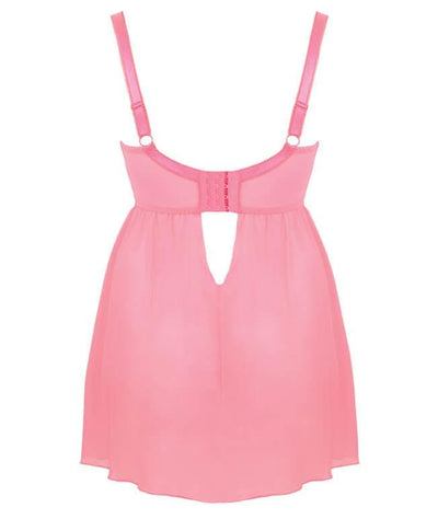 Curvy Kate Can Can Longline Babydoll - Flamingo