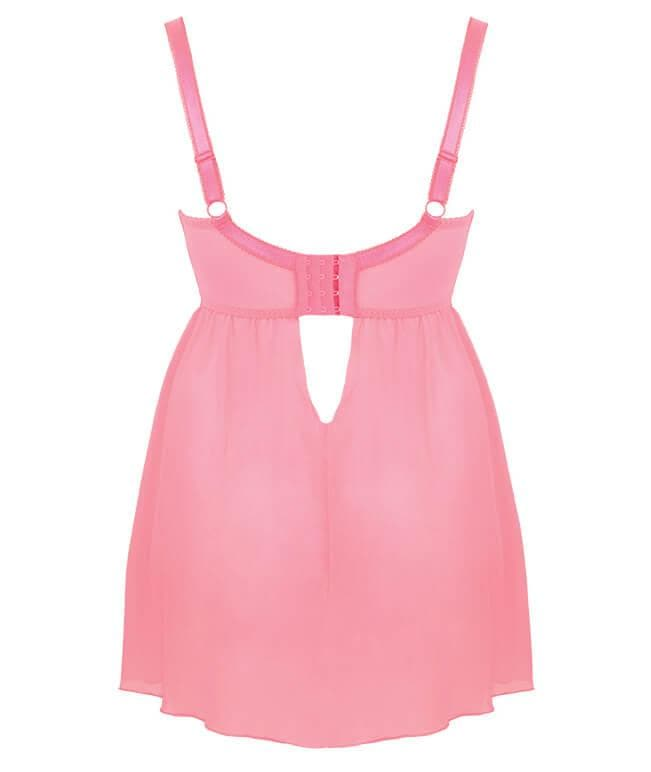 Curvy Kate SG4017 Can Can Longline Babydoll in Flamingo