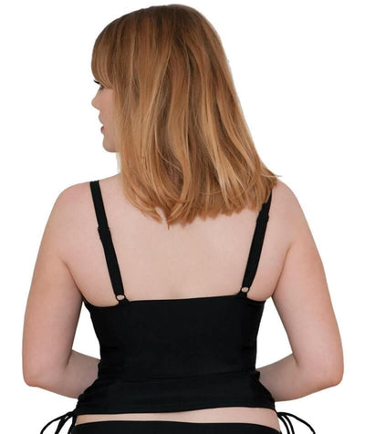 Curvy Kate Jetty Balcony Tankini Top - Black - Back