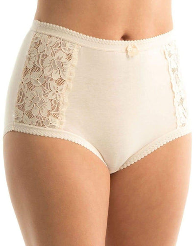 Triumph Cotton & Lace Full Brief - Body Beige Knickers 12