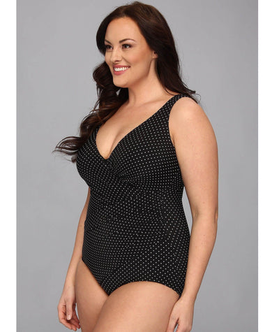 Miraclesuit Oceanus DD-F Cup Underwire One Piece Swimsuit - Pin Point
