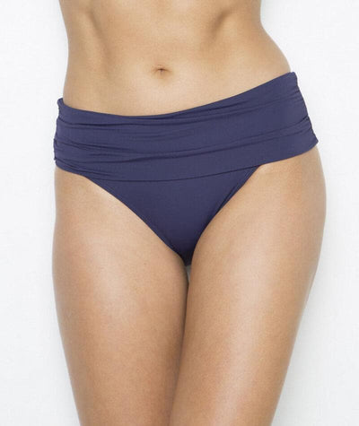 Nip Tuck Plains Roll Band Brief - Navy Swim 8