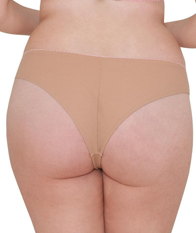 Curvy Kate Smoothie Soul Brazilian Brief - Latte Knickers