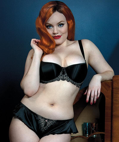 "Scantilly Lavish Bra - Black ""front"""