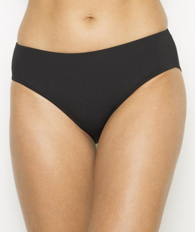 Nip Tuck Plain Bikini Brief - Black - Back - Front