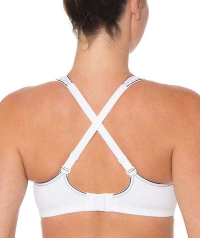 Triumph Triaction Endurance Sports Bra - White - Crossover - Back