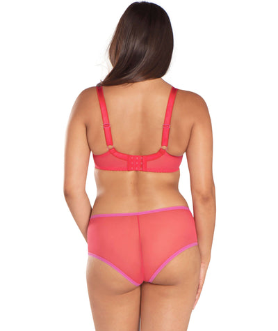 Curvy Kate Blossom Short - Red Print - Model - Back