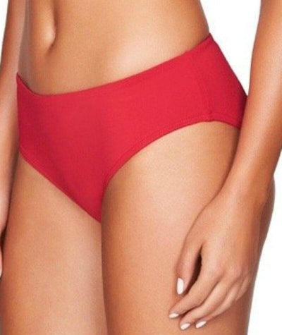 Sea Level Plains Mid Bikini Brief - Red - Side