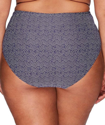 Artesands Rouched Side High Waist Brief - Zig Zag - Back