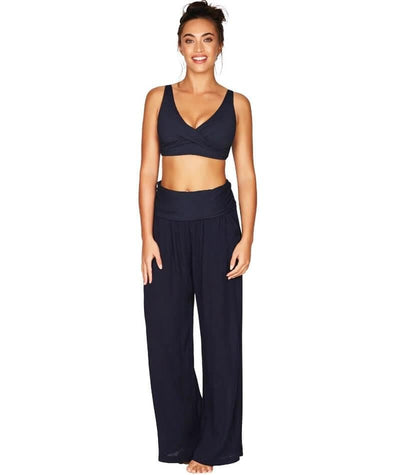 Sea Level Plains Folded Band Beach Pant - Night Sky Navy - Model - Front