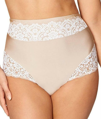 Fayreform The Sculptress Full Brief - Latte/Ivory - Front