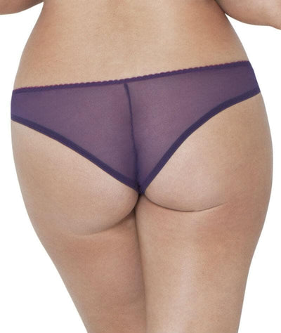 Curvy Kate Smoothie Soul Brazilian Brief - Purple/Sangria - Back