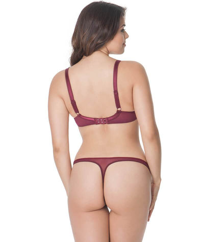 Curvy Kate Kitty Plunge Bra - Merlot