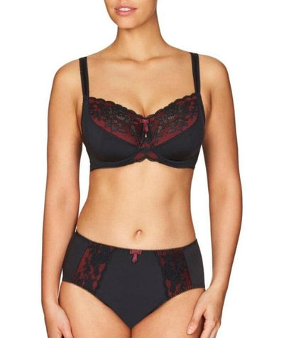 Fayreform Sophia Underwire Bra - Black/Windsor Wine - Model - Front