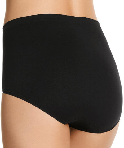 "Jockey Everyday Seamfree Full Brief- Black ""Back"""