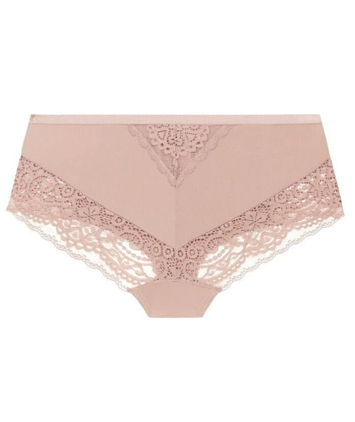 Ava & Audrey Sienna Lace Hipster Brief - Rose - Front