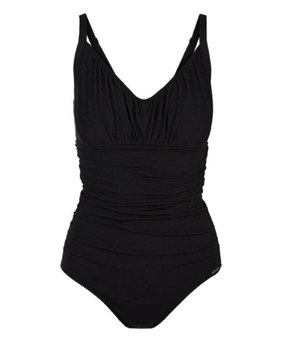 Capriosca Honey Comb Underwire One Piece - Black Swim