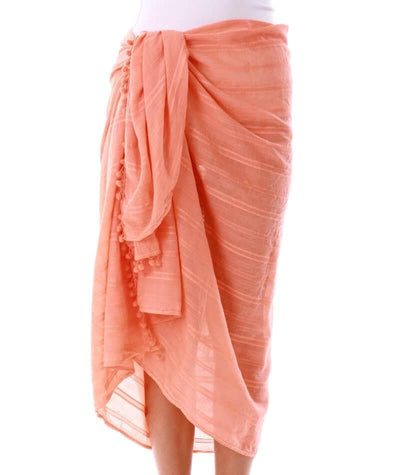 Capriosca Beach Cover Up Sarong - Coral Swim