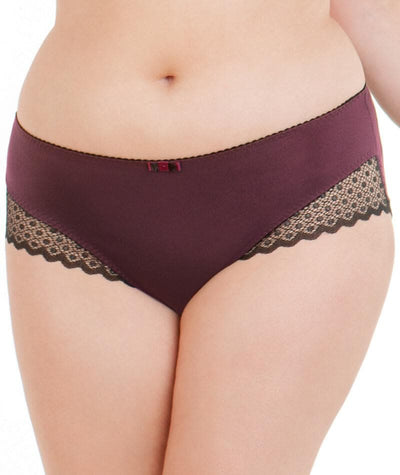 Curvy Kate Trixie Short - Black/ Mulberry Knickers 10