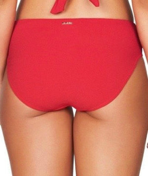 Sea Level Riviera Rib Mid Bikini Brief - Red Swim 8