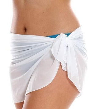 Capriosca Mesh Tie Skirt Short - White Swim S