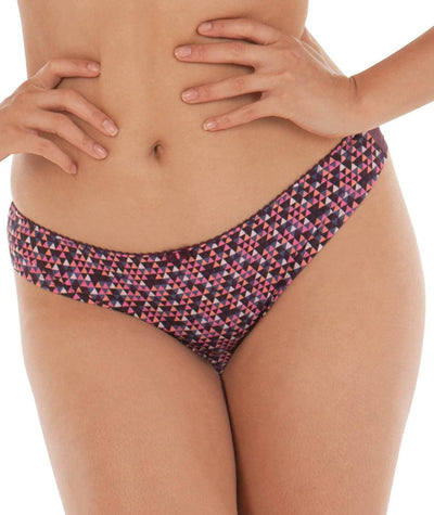 Curvy Kate Smoothie Soul Brazilian Brief - Mulberry Print - Front