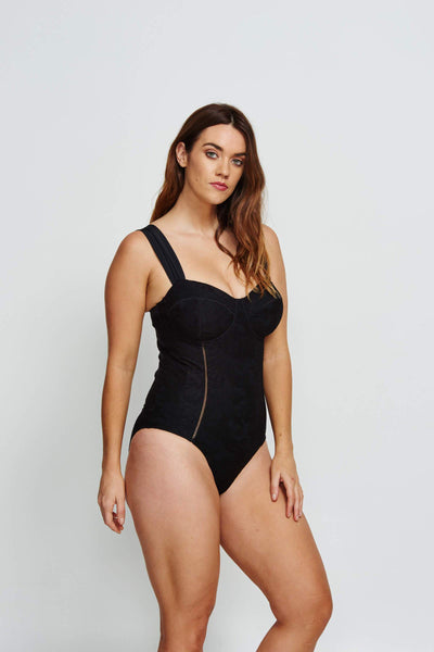 Robyn Lawley Marilyn D/DD Cup One Piece - Black Lace