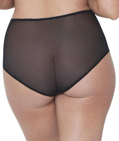 Curvy Kate Deluxe High Waist Brief - Black/Almond - Back