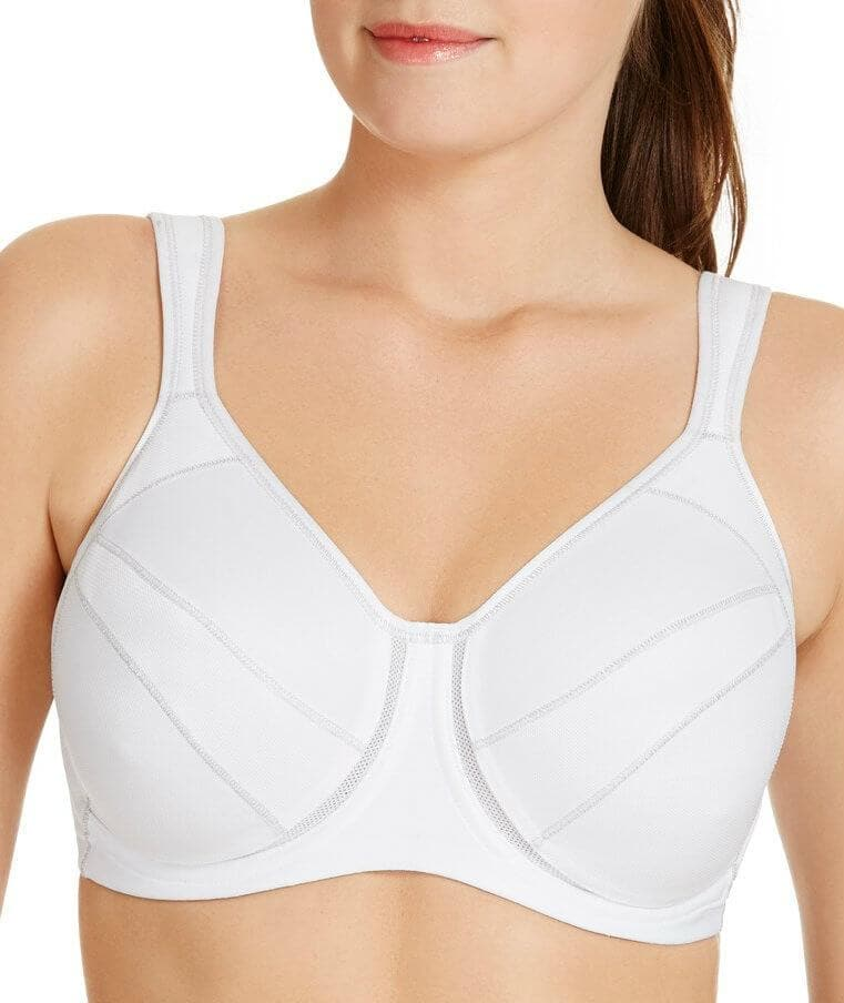 Berlei Full Support Sport Underwire Bra - White - Front - 2